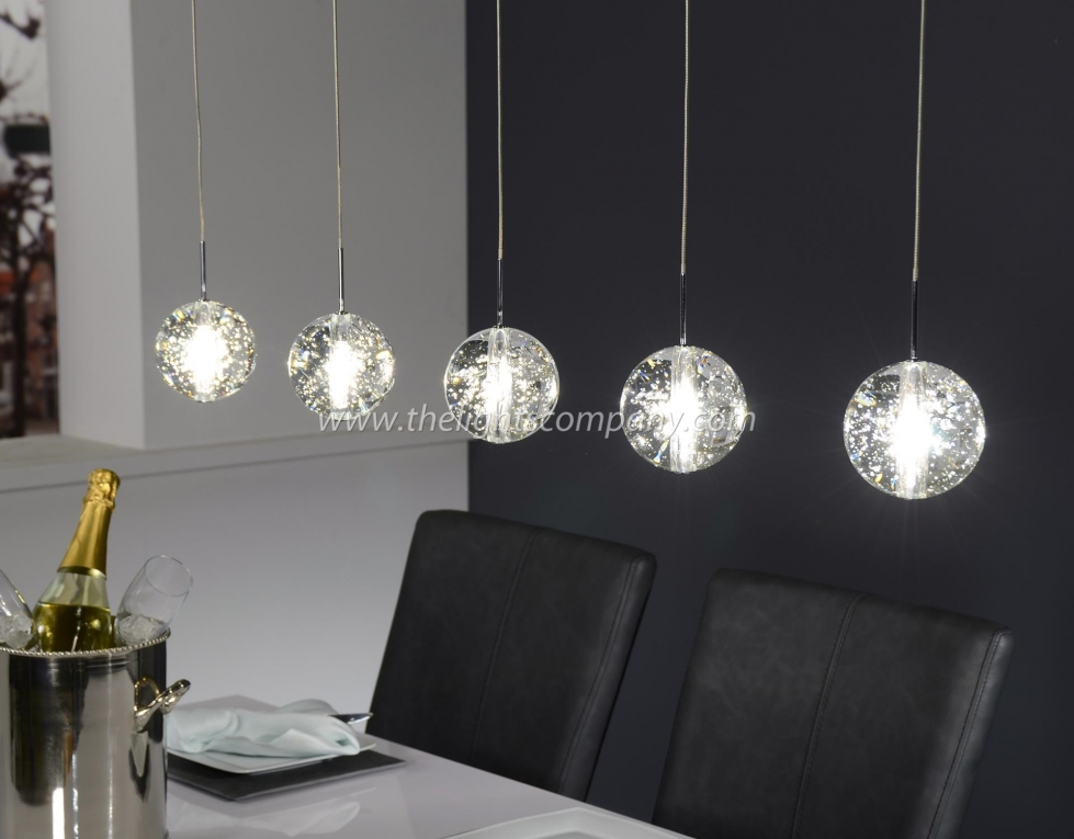 hanglamp glazen bollen 5l hanglampen the lights company. Black Bedroom Furniture Sets. Home Design Ideas