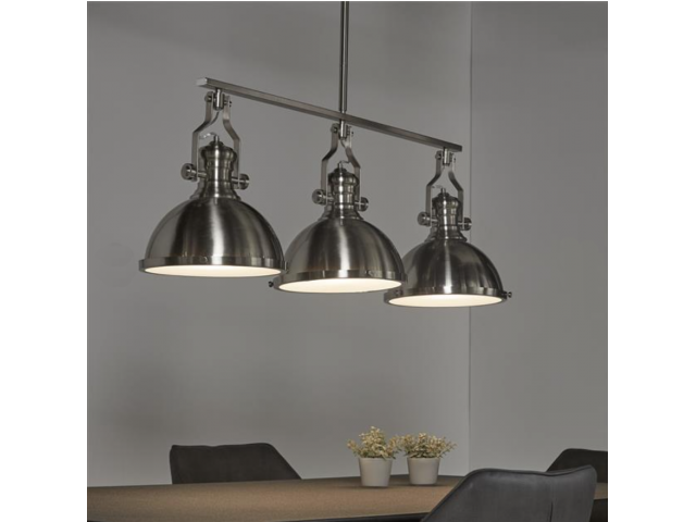 Industriele hanglamp 3 grote kappen hanglampen the lights company - Industriele kantoorlamp ...