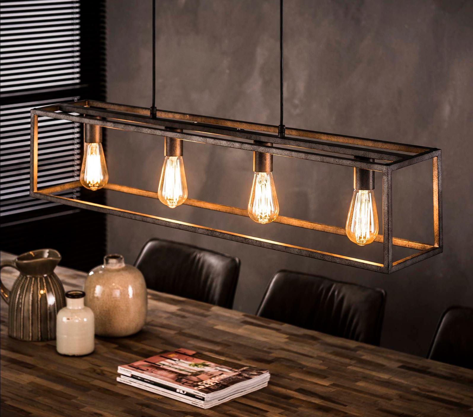 Vaak Industriele Hanglamp Rechthoek - Buis 4L - Hanglampen - The Lights BG46
